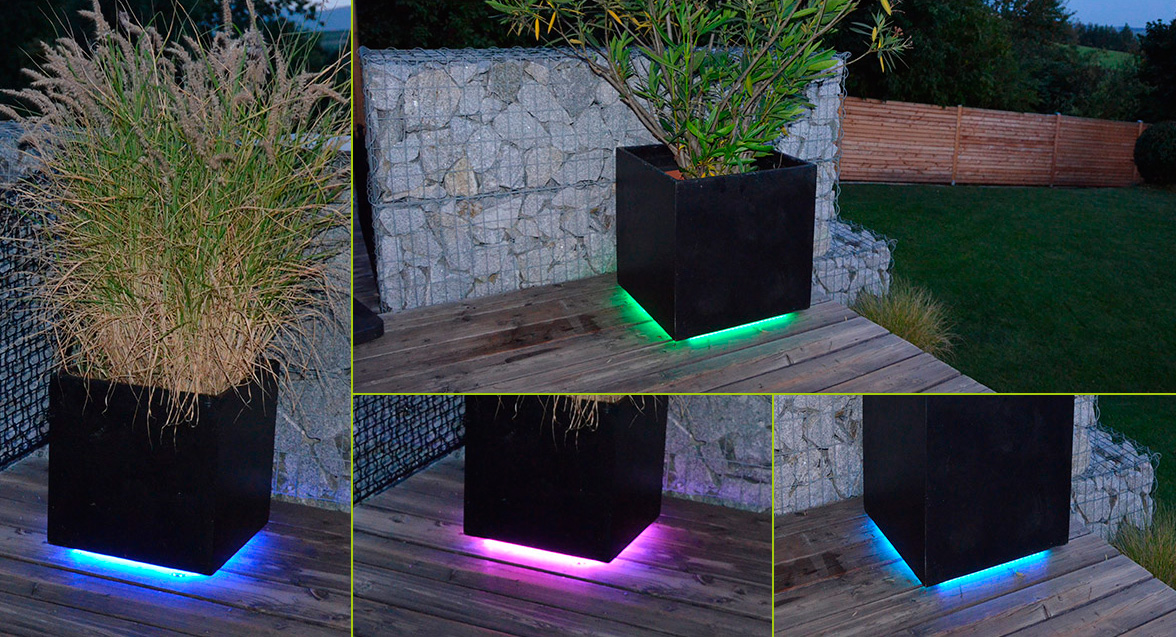 6 ideas para decorar con tiras led for Luces led para casas exterior