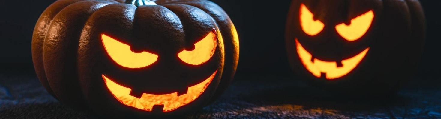 decoracin de halloween con luces led