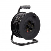 Cable Enrollable Negro de 25m Liso
