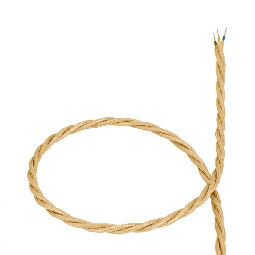 Cable-Textil-Trenzado-Dorado-PVC