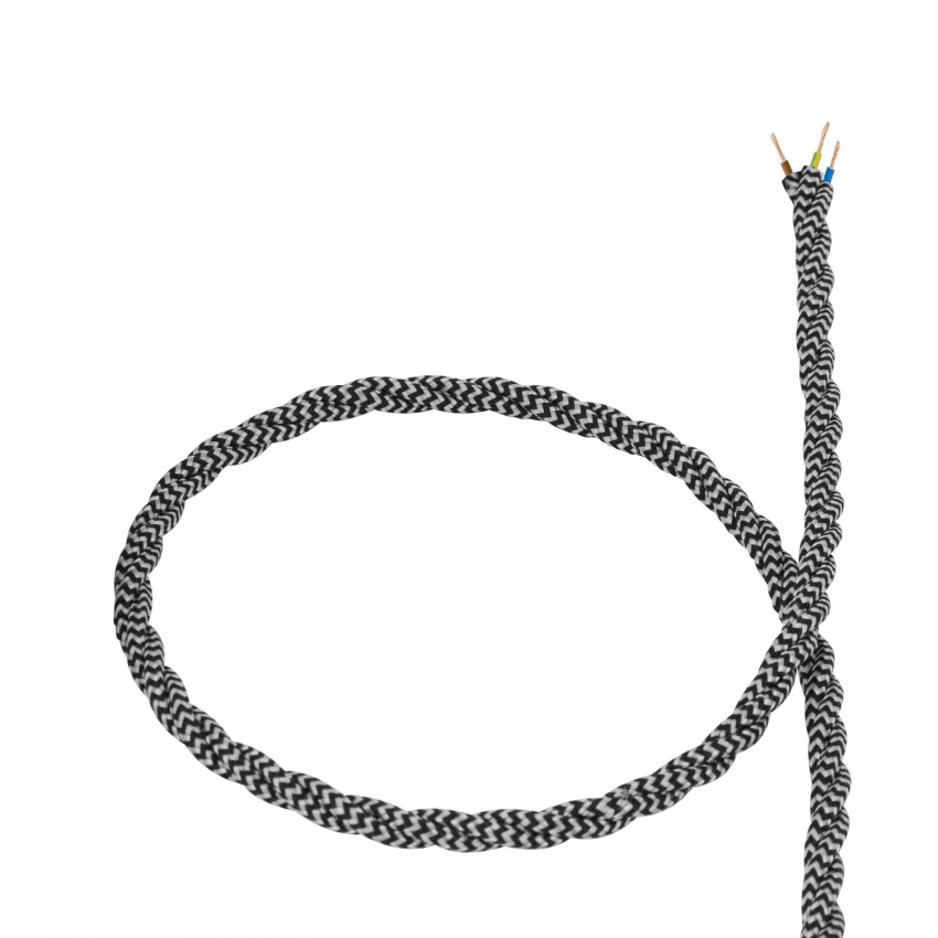 Cable-Textil-Trenzado-Blanco-y-Negro