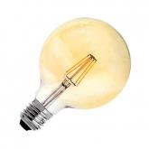 Bombilla LED E27 Regulable Filamento Planet Gold G95 6W