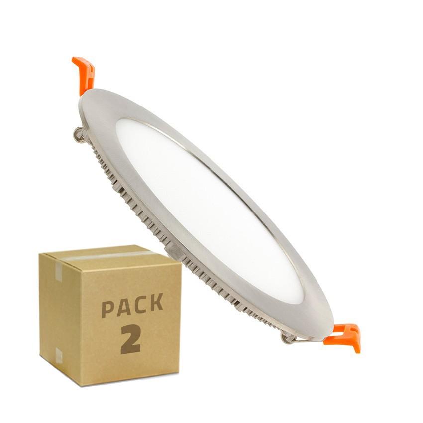 Pack-2-Placa-LED-Circular-SuperSlim-LDD-Silver-12W-Downlight-LED-Blanco
