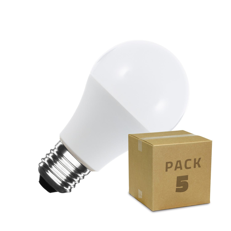 Pack-5-Bombillas-LED-E27-Casquillo-Gordo-A60-9W