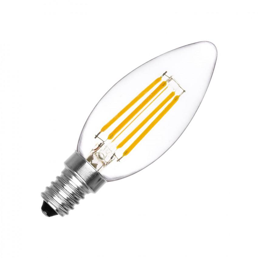 Bombilla LED E14 Filamento C35 Vela 4W