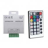 Controlador Tira LED RGB 12V,  Dimmer por Control Remoto RF 28 Botones