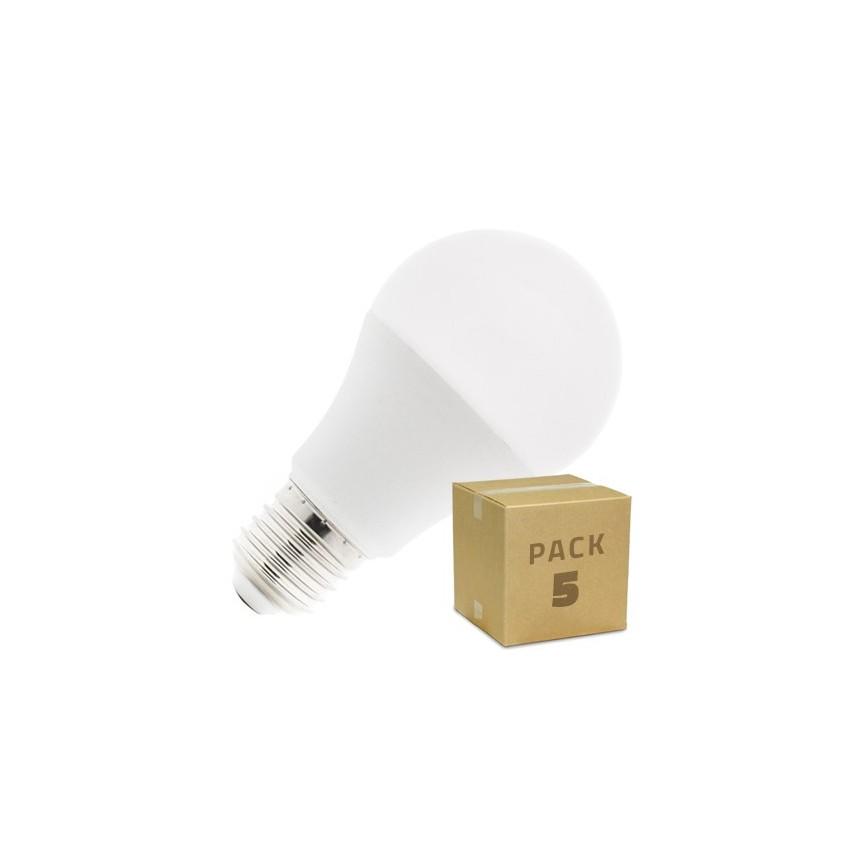 Pack-5-Bombillas-LED-E27-A60-10W-Blanco-Calido-Neutro-Frio