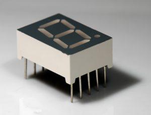El display de siete segmentos uno de los primeros usos del LED