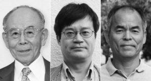 Los ganadores del Nobel de física por la invención del LED azul.