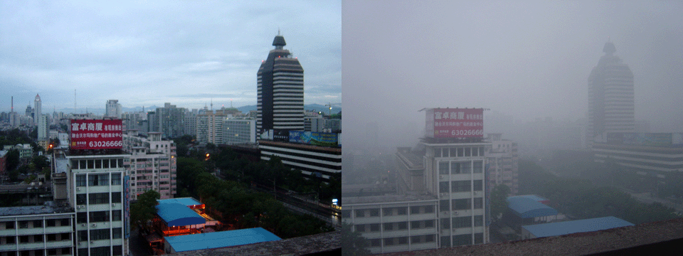 Ciudad con y sin Smog
