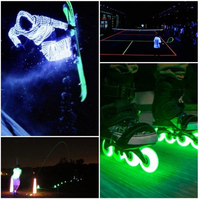 Practicar deporte con luz LED
