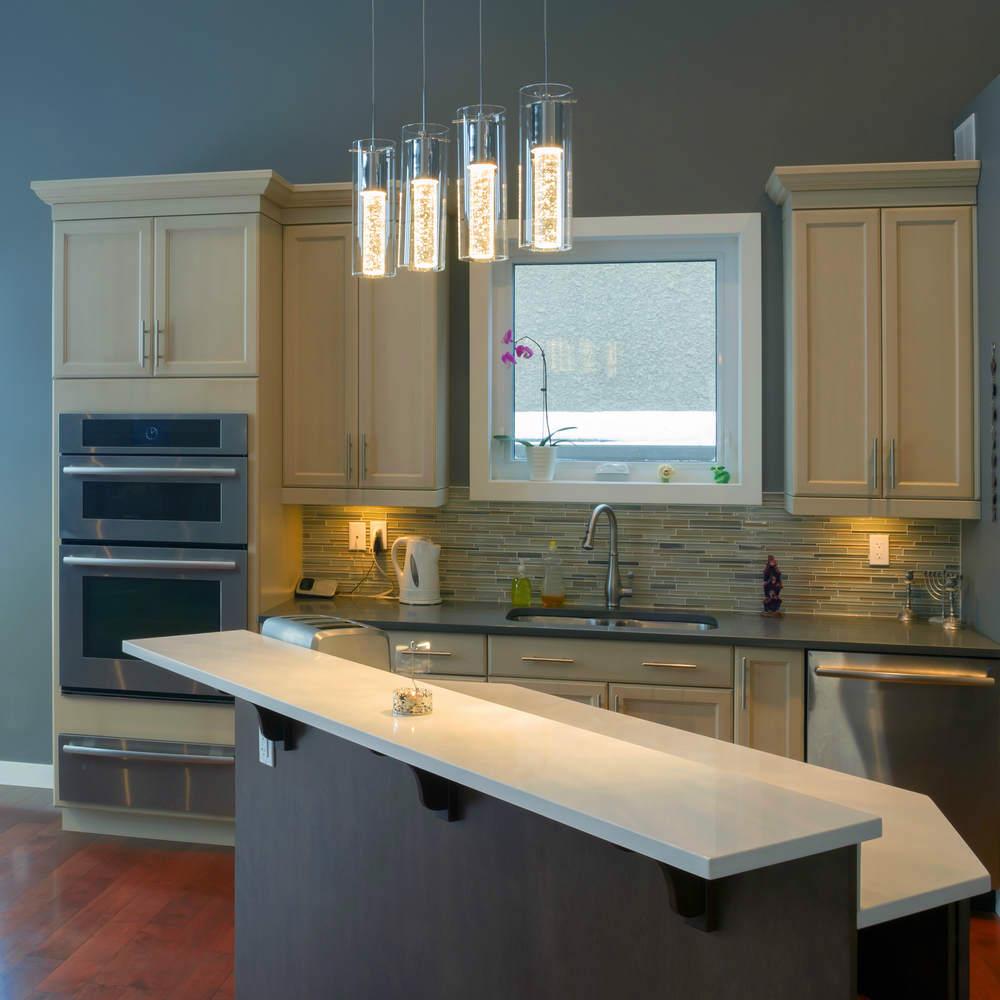 7 ideas c mo iluminar una cocina con led On lamparas de techo cocina