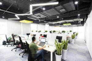 iluminación led en oficinas
