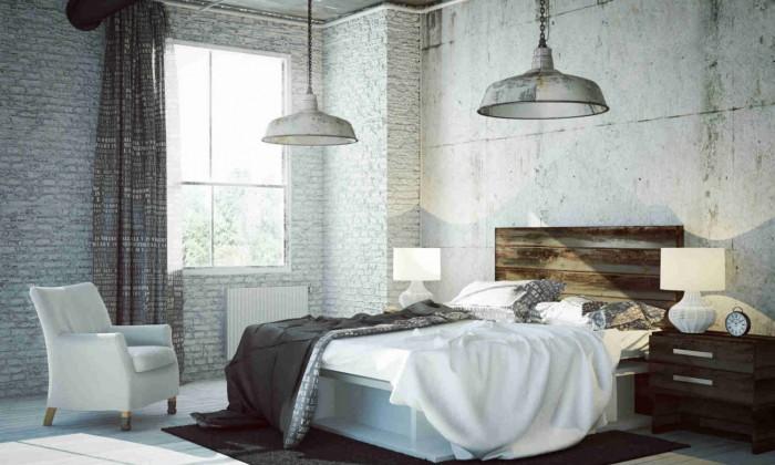 lámparas de cemento estilo industrial