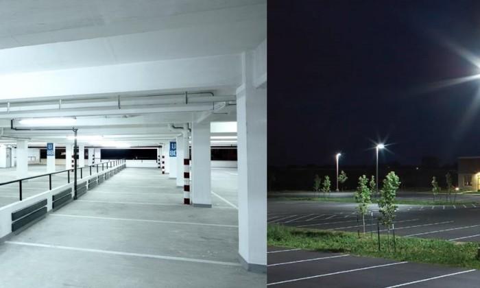 Iluminación LED en parkings y garajes