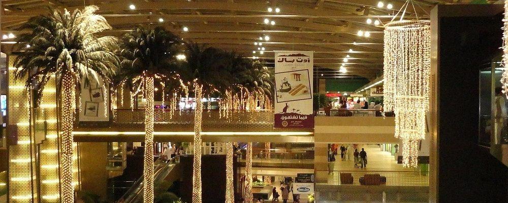 Decoración de negocios con luces LED
