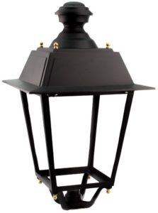 Farola de LED con un diseño convencional