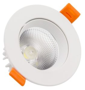 Foco downlight LED cob direccionable