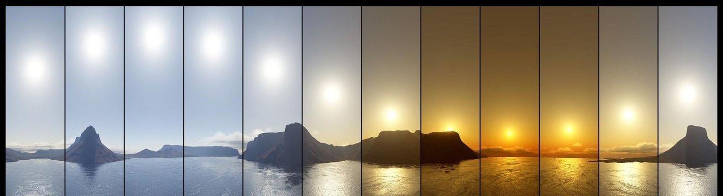 temperatura de color del sol