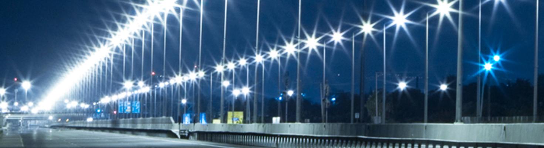 Iluminación urbana con luz LED