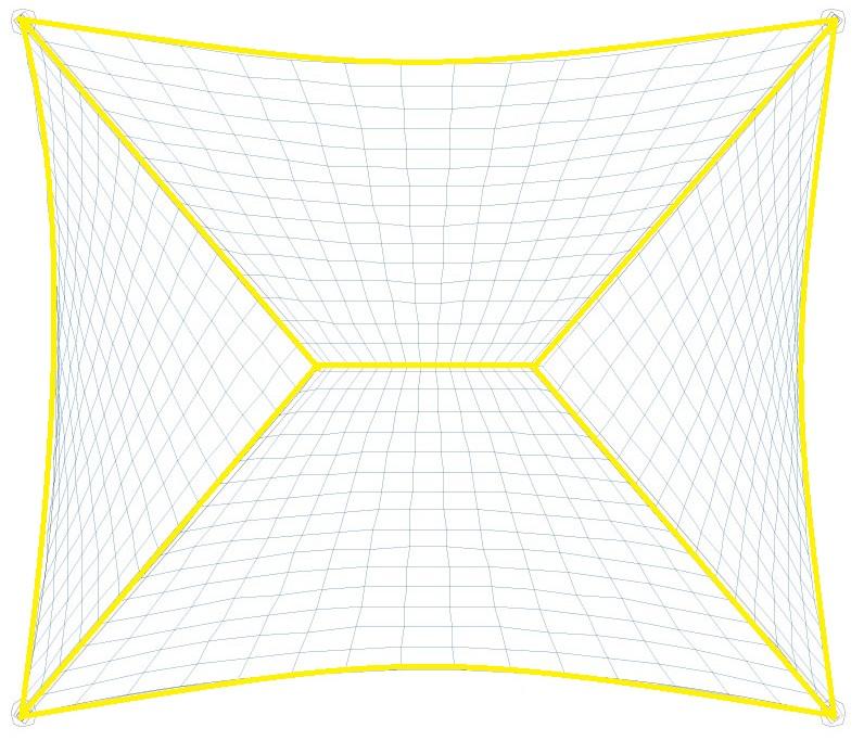 Iluminación de esquinas hacia centro