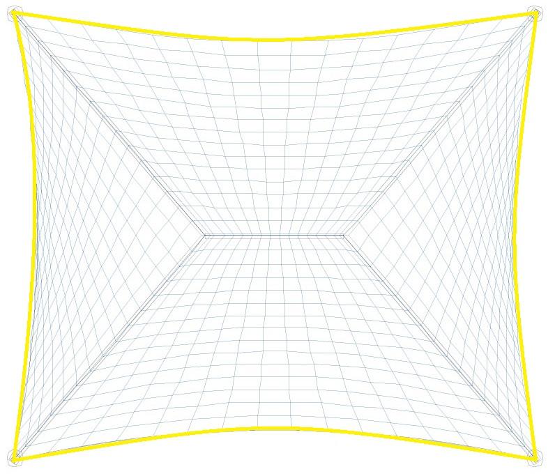Iluminación perimetral de la carpa