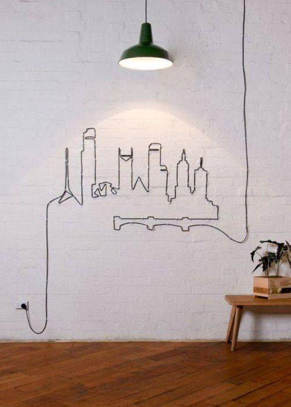 Dibujo hecho con cable