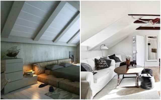 Diversos espacios con muebles bajos