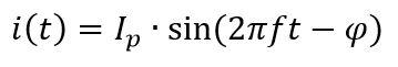Fórmula de la corriente alterna