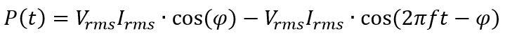 Fórmula de la potencia en alterna
