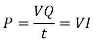 Fórmula de la potencia eléctrica