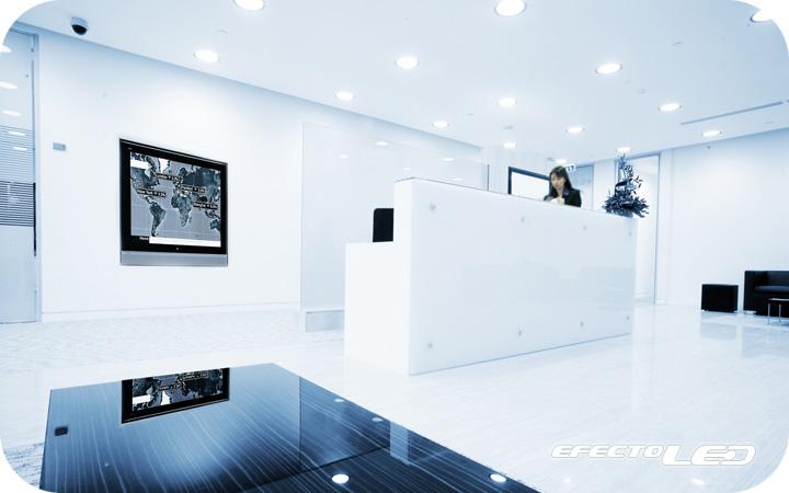 Ambientes con iluminaci n led efectoled for Iluminacion led oficinas