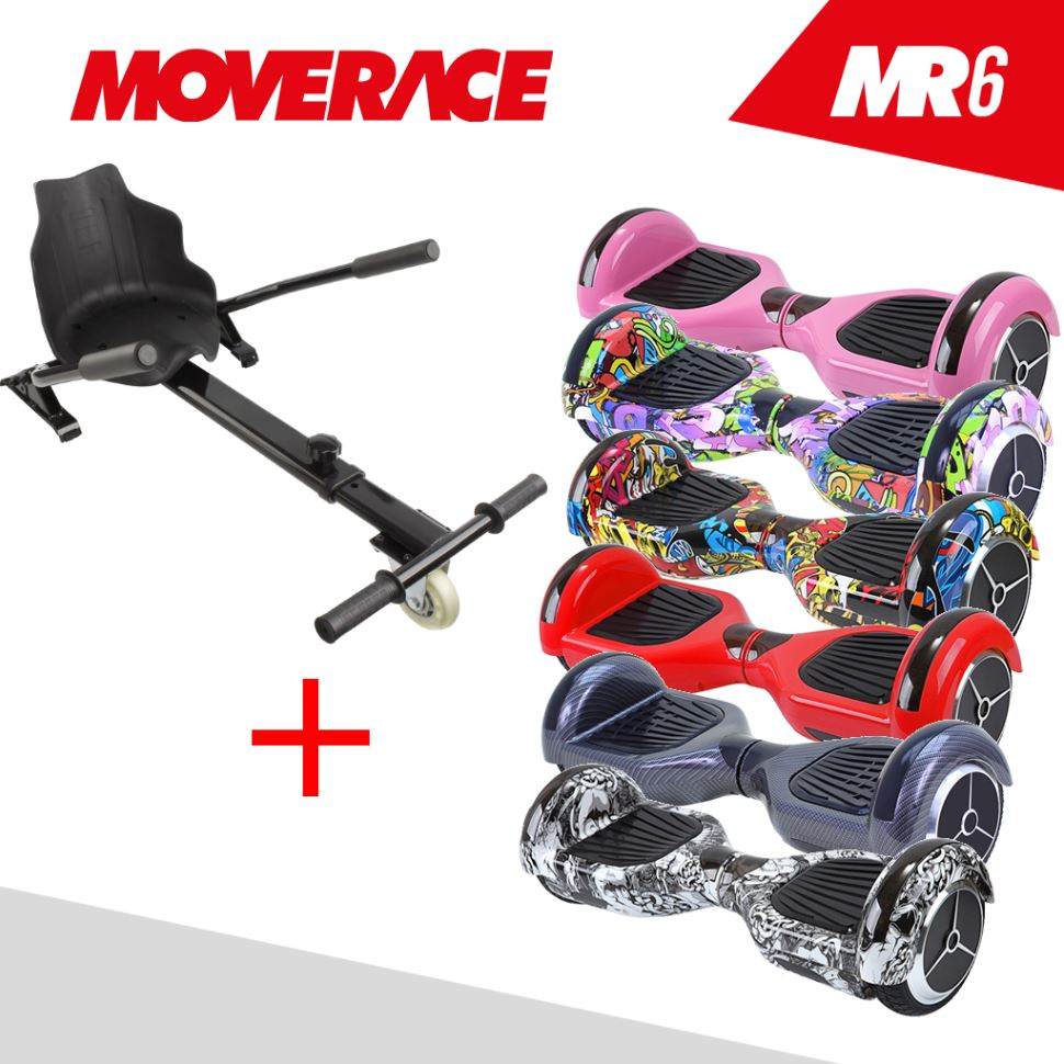 Patinete-Electrico-Hoverboard-Pack-Skate-MR6-amp-RaceKart-Elige-Color